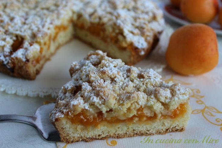 #gialloblogs #ricetta #foodpornCrostata sbrisolona alle albicocche | In cucina con Mire