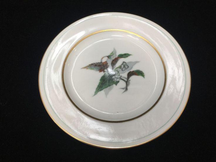 "Vintage Imperial Craftsman Japan Porcelain China Begonia Plate, 6 1/2"" Diameter #ImperialCraftsman"