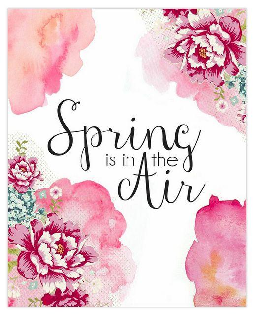 Free #spring #printables. 8x10 print plus desktop