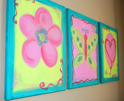 117 best canvas ideas for girls images on pinterest for Three canvas painting ideas
