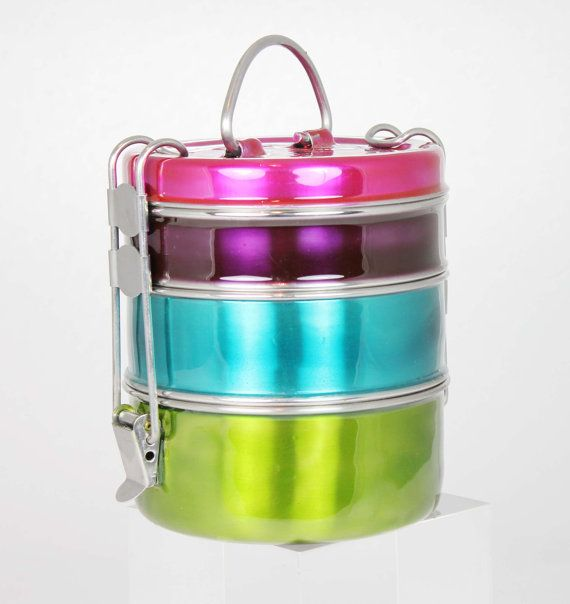Lunch 'Tiffin' Box stainless steel perfect for eating outdoors - by Tiffinware, £28.99
