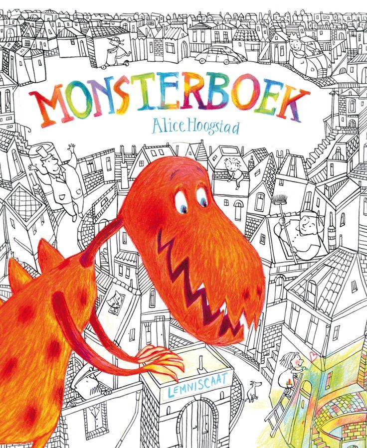 Monsterboek van Alice Hoogstad AK Prentenboeken 2014 Tekstloze prentenboeken Monsters Kleuren Fantasie