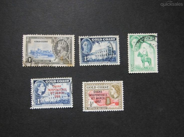 GoldCoast KGV, KGVI, QE 11, used stamps by jones101 - $5.00
