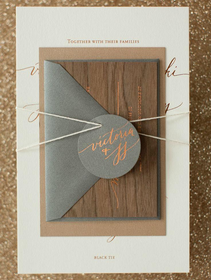 Rustic Boho Wood and Copper Foil Wedding