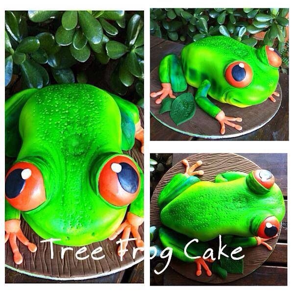 For a lady obsessed with green tree frogs!
