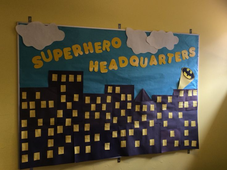 Superhero HQ dramatic play area - to include all the tools a little hero needs.