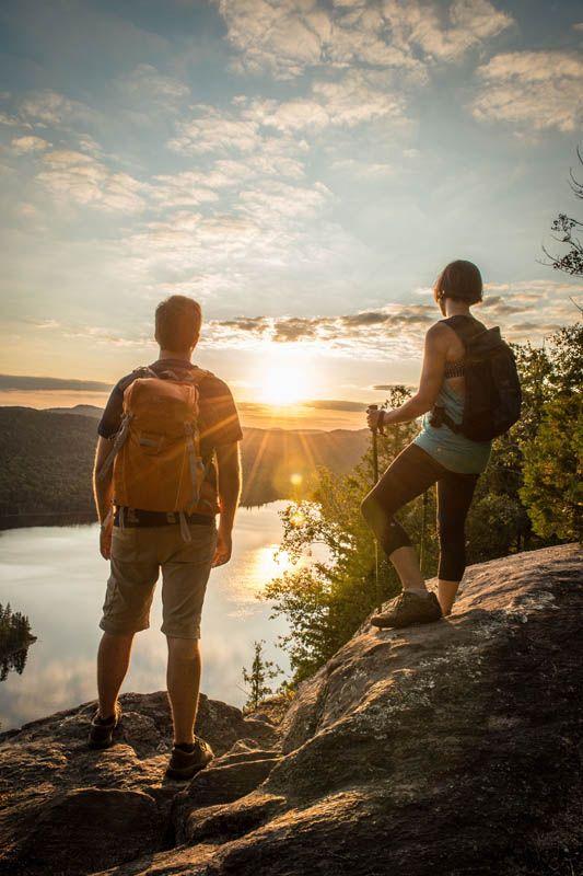Randonnée au parc régional des Sept-Chutes dans Lanaudière, Québec.