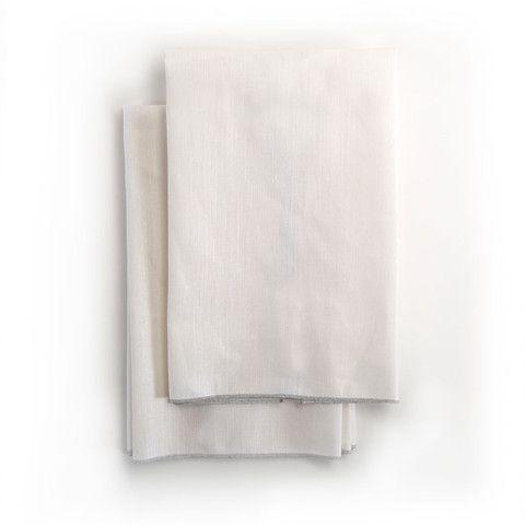Spun in Silver Tea Towel: White – Amanda Hamilton Home Accessories