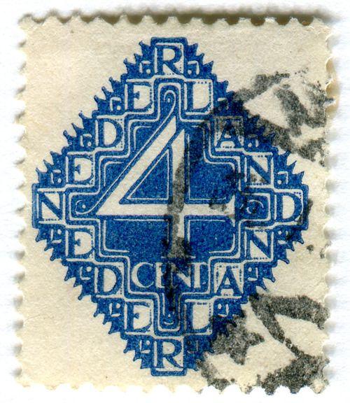 Netherlands postage stamp designed by van de Vecht