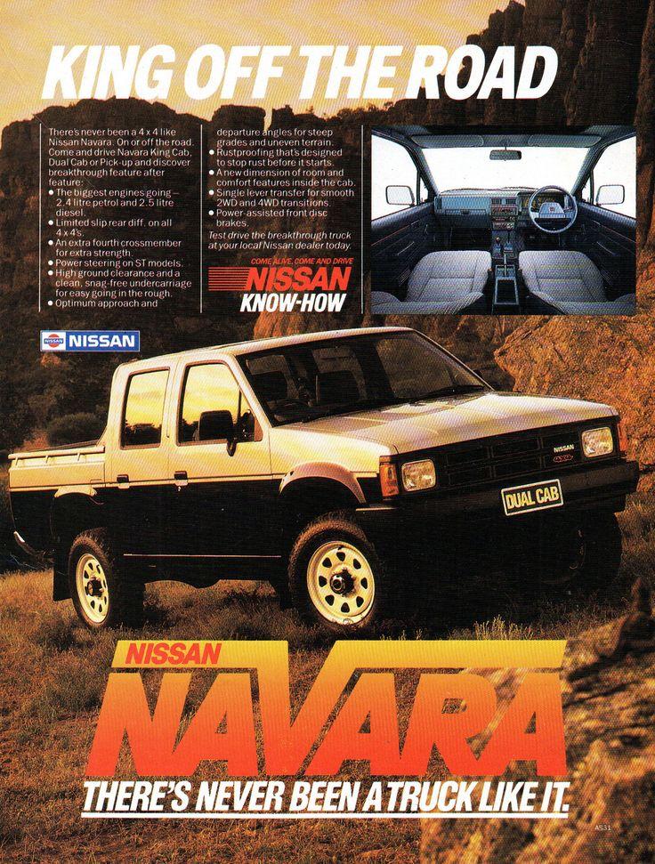 https://flic.kr/p/21J6mN2 | 1986 Nissan Navara Dual Cab 2-4 Litre Petrol Or 2-5 Litre DieselUte Utility Pick-Up Aussie Original Magazine Advertisment
