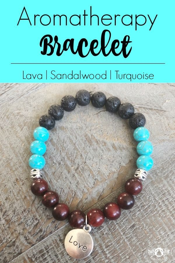 "A beautiful way to enjoy your essential oils! Turquoise, lava, and sandalwood aromatherapy bracelet with ""love"" charm. Charm can be changed!  To order or see more of my designs, CLICK HERE!"