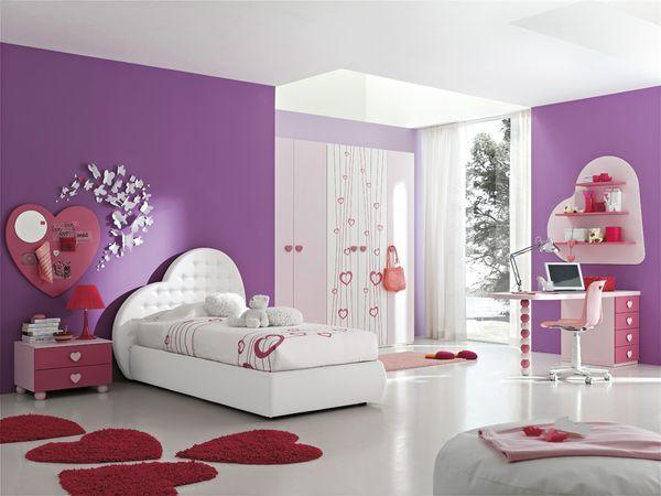 Идея дизайна детской комнаты для девочки
