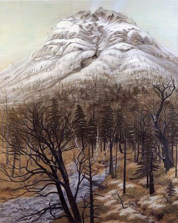 東山魁夷 焼嶽初冬 1931年
