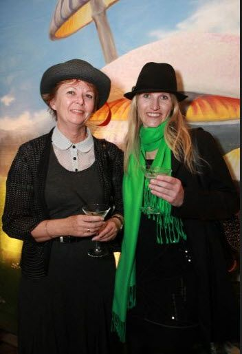 Mad Hatters Tea #Party at Top of the Town, Hyatt, L to R , Janet Lee Martin and Samantha Stirling