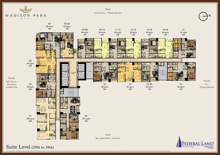 madison park west suite floor plan 29th to 38th floor