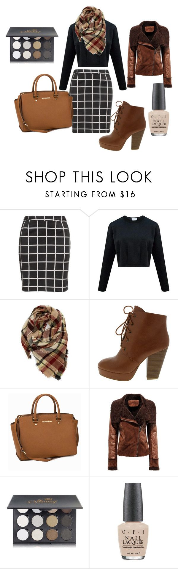 """Autumn Plussize LOOK"" by migalowa on Polyvore featuring Zizzi, Evelyn K, MICHAEL Michael Kors, Shany, OPI, women's clothing, women's fashion, women, female and woman"
