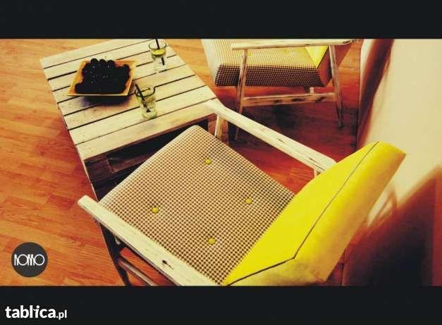 Fotele oryginalne retro szaro żółte Łódź - image 1