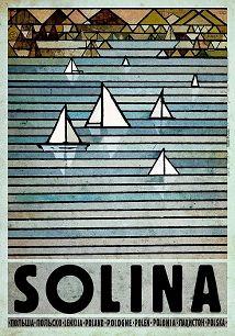 Ryszard Kaja - Solina, polski plakat turystyczny