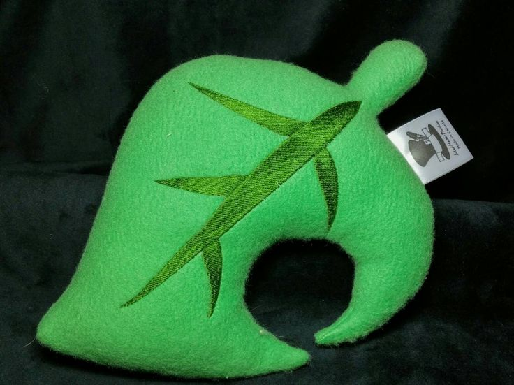 Animal Crossing inspired Leaf Pillow Plush by MadHatterPlushies