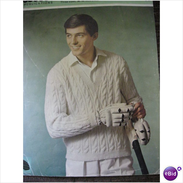 mans cricket jumper knitting pattern