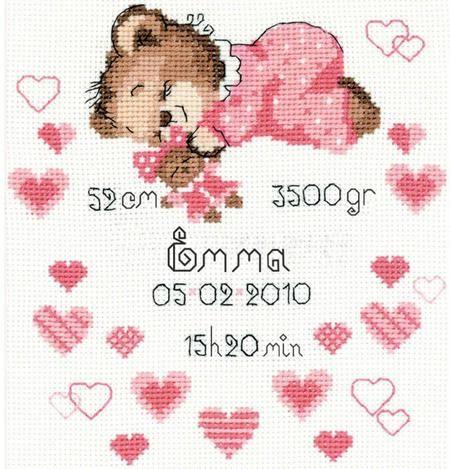 Annonces de naissance de bébé - Point de Croix Patrons et kits - 123Stitch.com