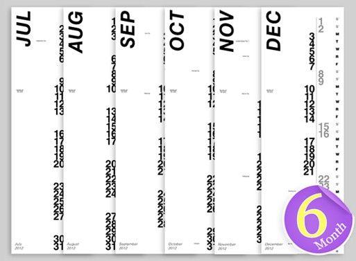 verticle calendar