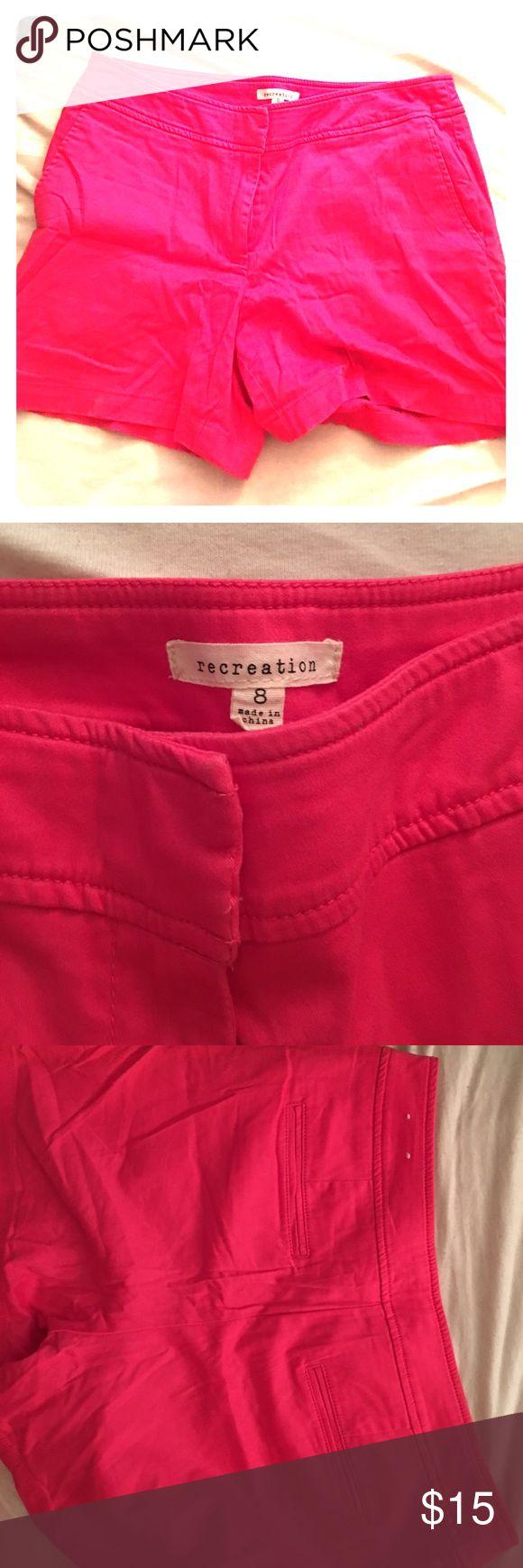 Hot pink shorts Hot pink shorts Shorts Bermudas
