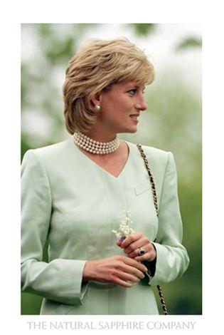 Princess Diana Blue Sapphire Engagement Ring