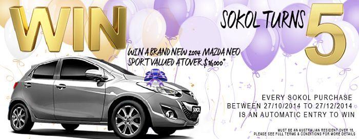 Celebrate Sokol's 5th Birthday and WIN a Car - The Stylist Splash
