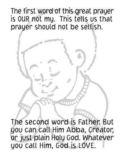 the our father coloring pages - photo#16