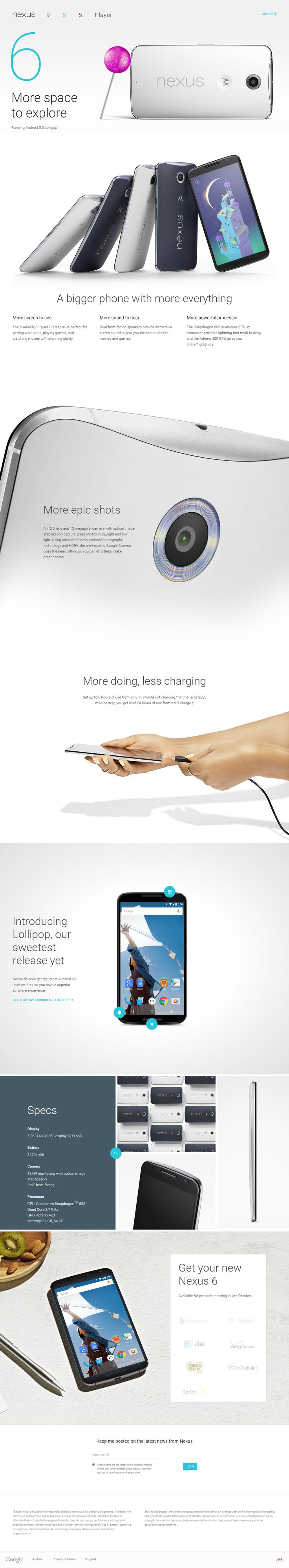 #Nexus 6 Official Website  http://www.google.com/nexus/6/