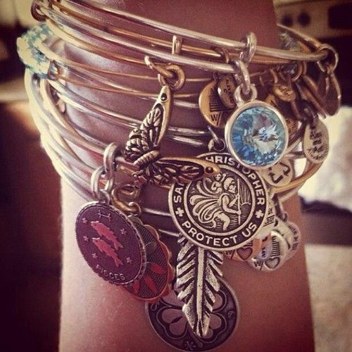 Alex and Ani charm bangles.