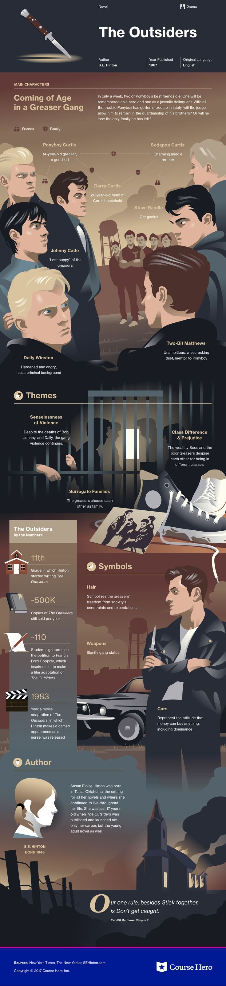 This @CourseHero infographic on The Outsiders is both visually stunning and informative!