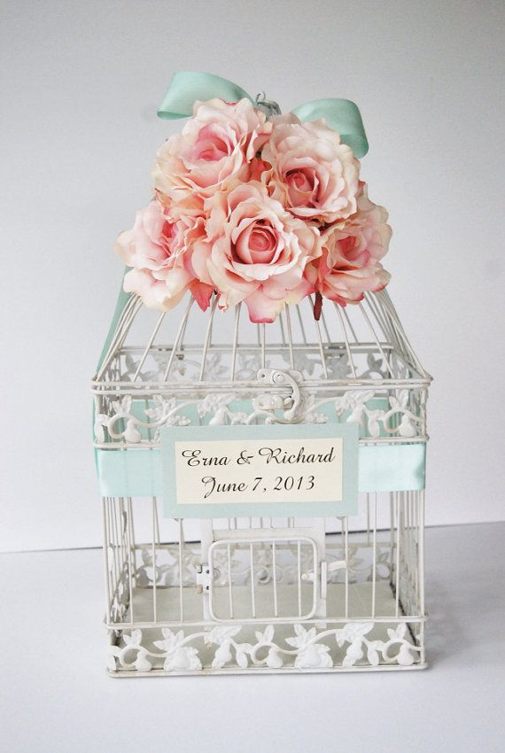 custom large wedding birdcage card holder by mackensleydesigns 6500