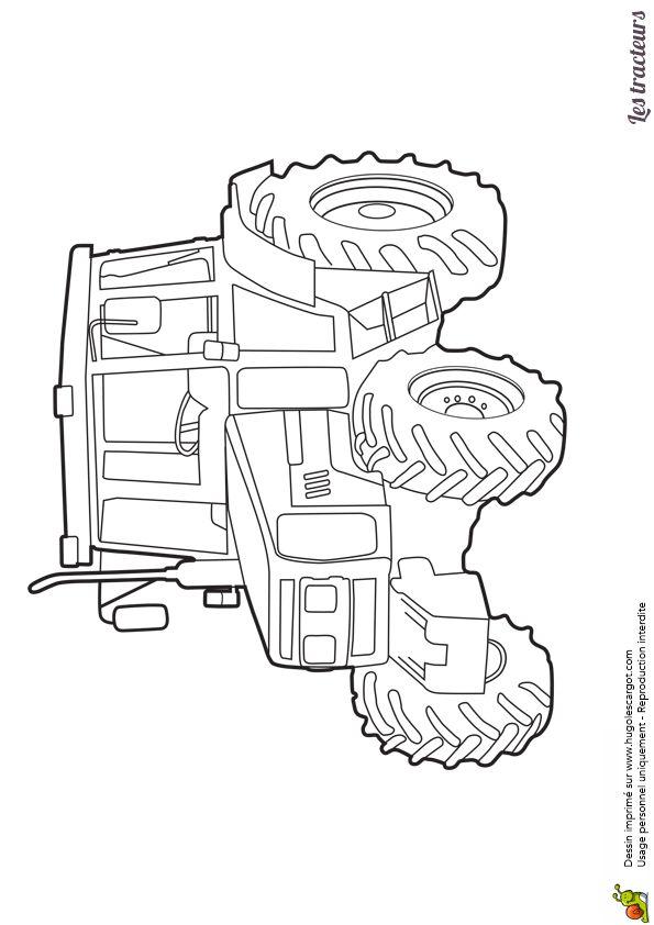 Coloriage d'un beau tracteur moderne