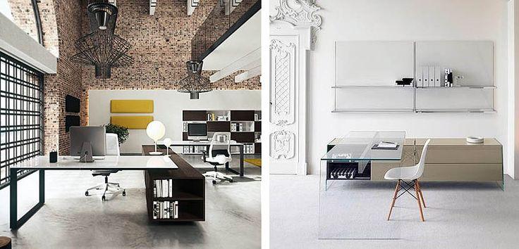 Escritorios de cristal para decorar la oficina - http://www.decoora.com/escritorios-de-cristal-para-decorar-la-oficina.html