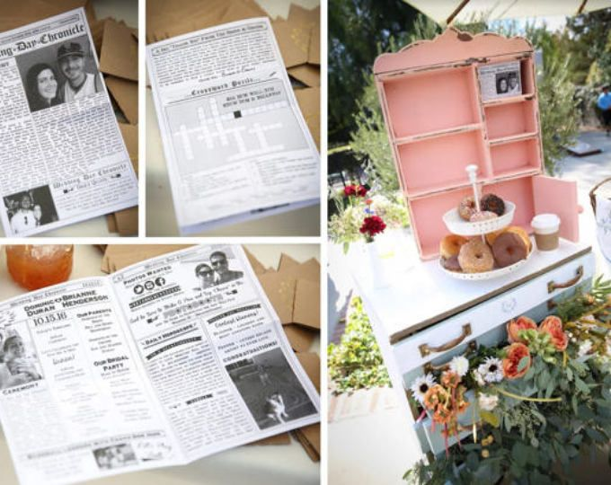 Brunch Wedding - Mini Newspaper Program! By KoTwoDesigns on Etsy