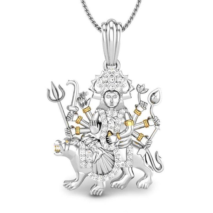 Jagdambe Maa Diamond Pendant