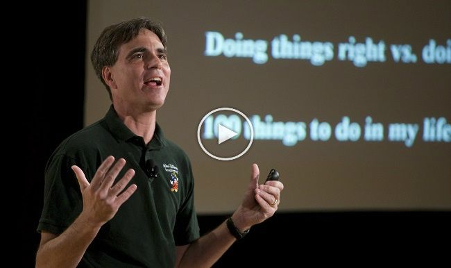 In this video, Randy Pausch clearly points out the most important things in life.