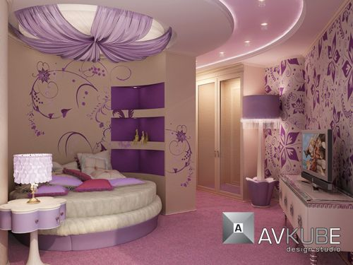 Image detail for -Small Space Living Room Design Ideas by AVKube Romantic Wallpaper in ...