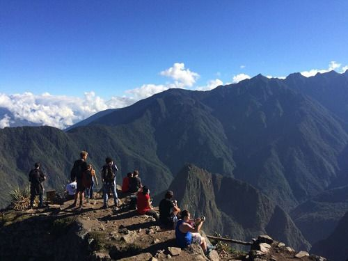 There is rarely a crowd on top of the Montana #Peru #MachuPicchu #Montana #RTW #JulesVernex2 More on our stay in Peru on our travel blog julesvernex2.wordpress.com
