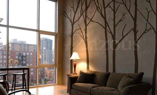 Contemporary Home Interior Decoration Gift Ideas, Nature Wall Sticker by Zazous Winter Tree