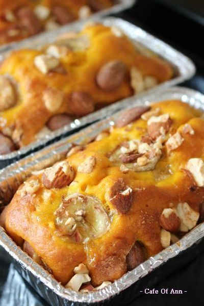 ノンオイル・かぼちゃとバナナのパウンドケーキ