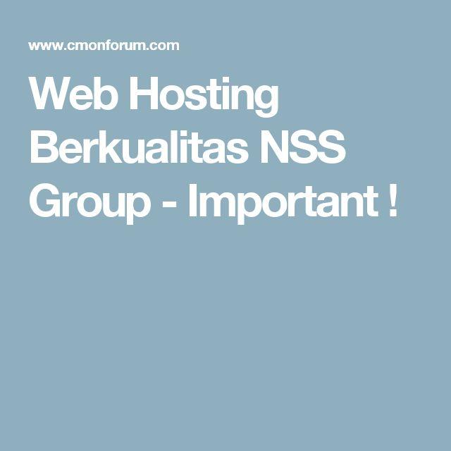 Web Hosting Berkualitas NSS Group  - Important !