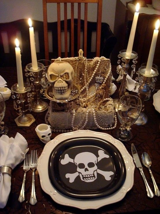 Pirate Themed Decorating Ideas Part - 30: IDEAS: Pirate Party. The Candlesticks With Jeweled Bobeches Are Really  Nice, As Is