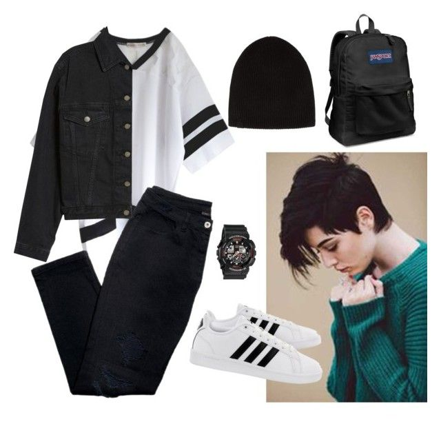"""""""Untitled #9"""" by ungelicaa ❤ liked on Polyvore featuring rag & bone, adidas, Baby-G, JanSport, Avon and Topshop"""
