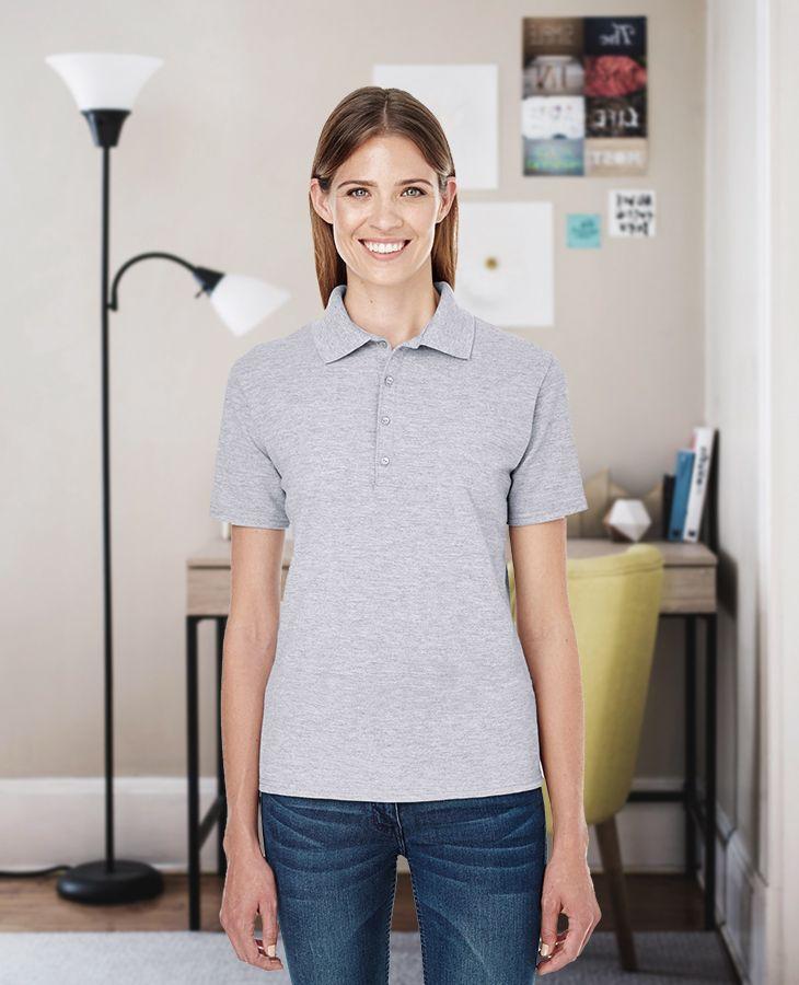 Hanes Womens X-Temp Pique Sport Shirt with Fresh iq 035P