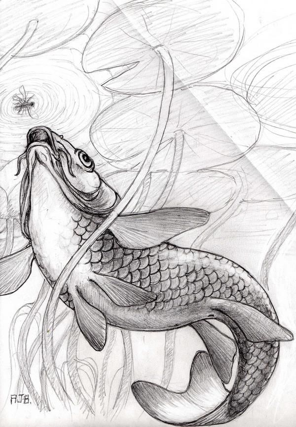 Fish Underwater Drawing Pin by Mariela Valerin...
