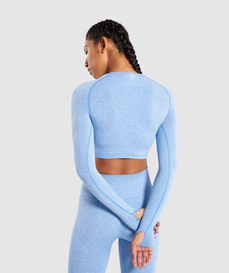 327a491af50780 Gymshark Vital Seamless Long Sleeve Crop Top - Blue - My WordPress ...