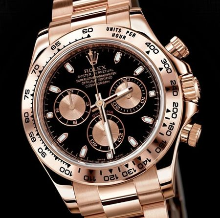 ♛ Rolex Daytona ♛ --- Obsessed with rose gold watch & blings